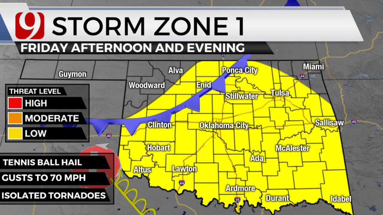 Okla. To See Rain, Potentially Severe Storms Friday