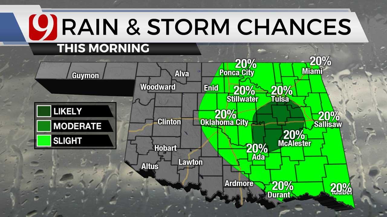 Hot, Humid & Breezy Monday For Oklahoma
