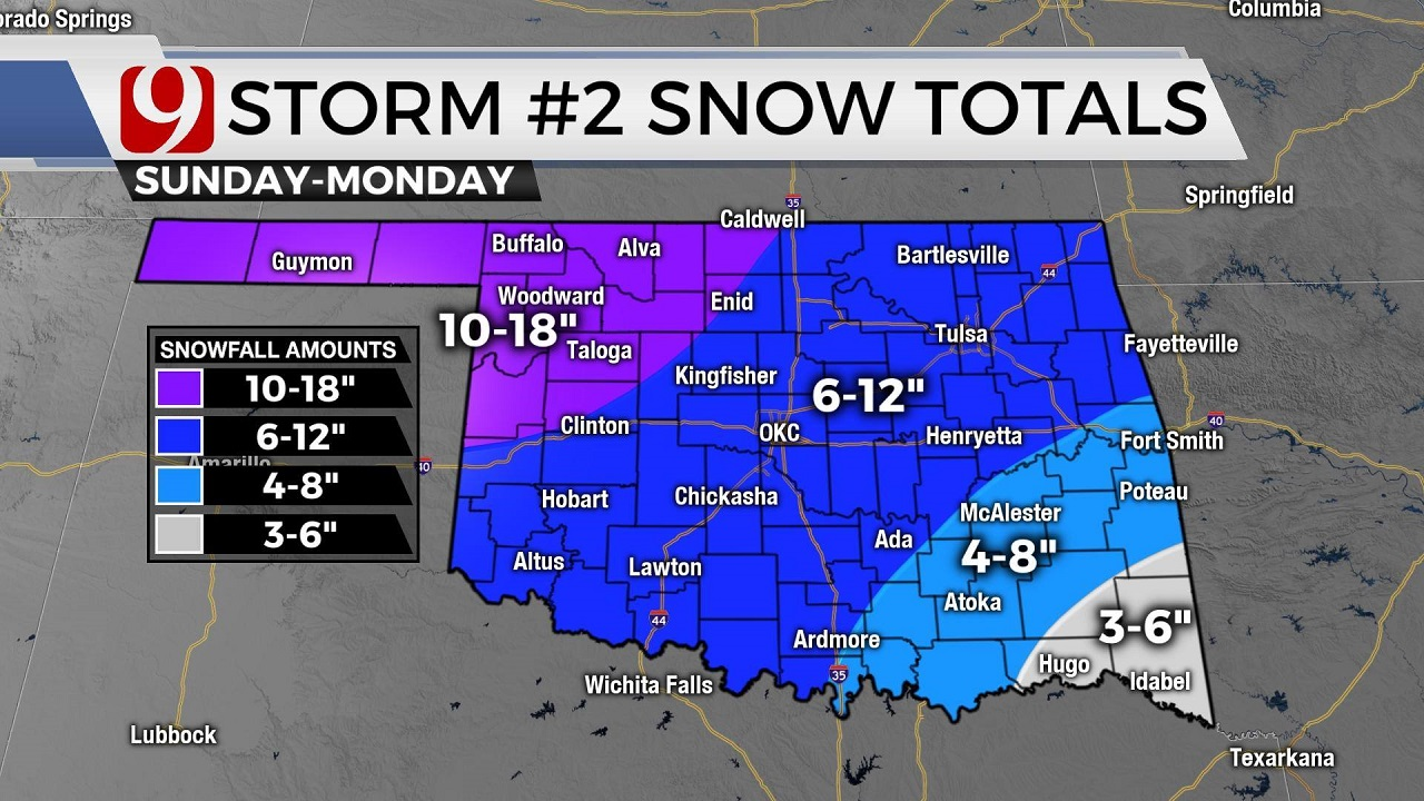 How Much Snow Could Oklahoma Get Valentine's Day Weekend?