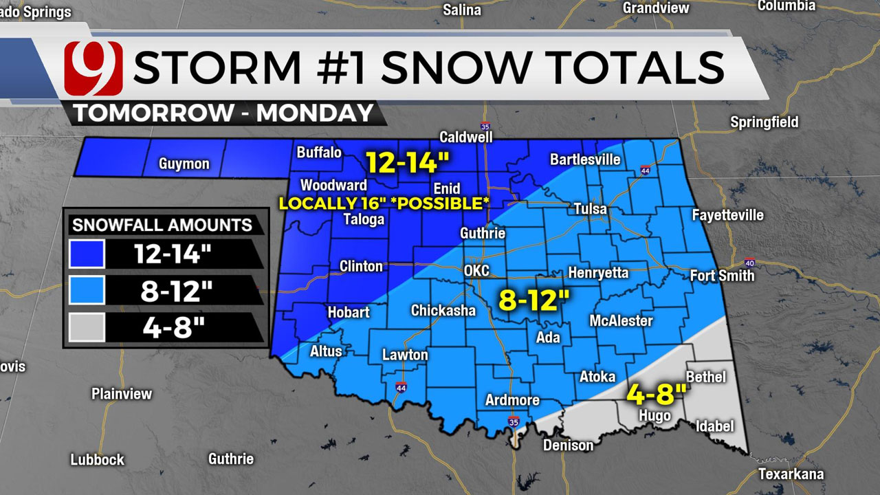 Storm Snow totals