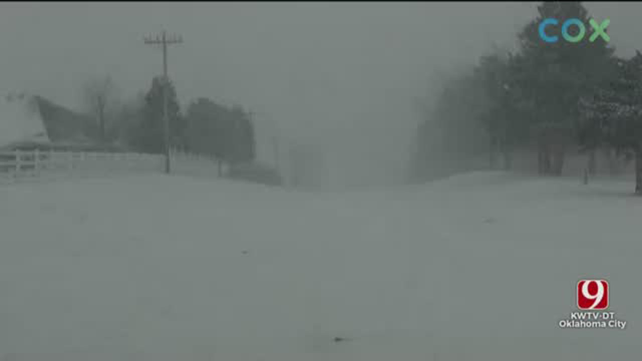 WINTER STORM COVERAGE: Winter Storm Brings Frigid Temps, Heavy Snow To Central Okla.