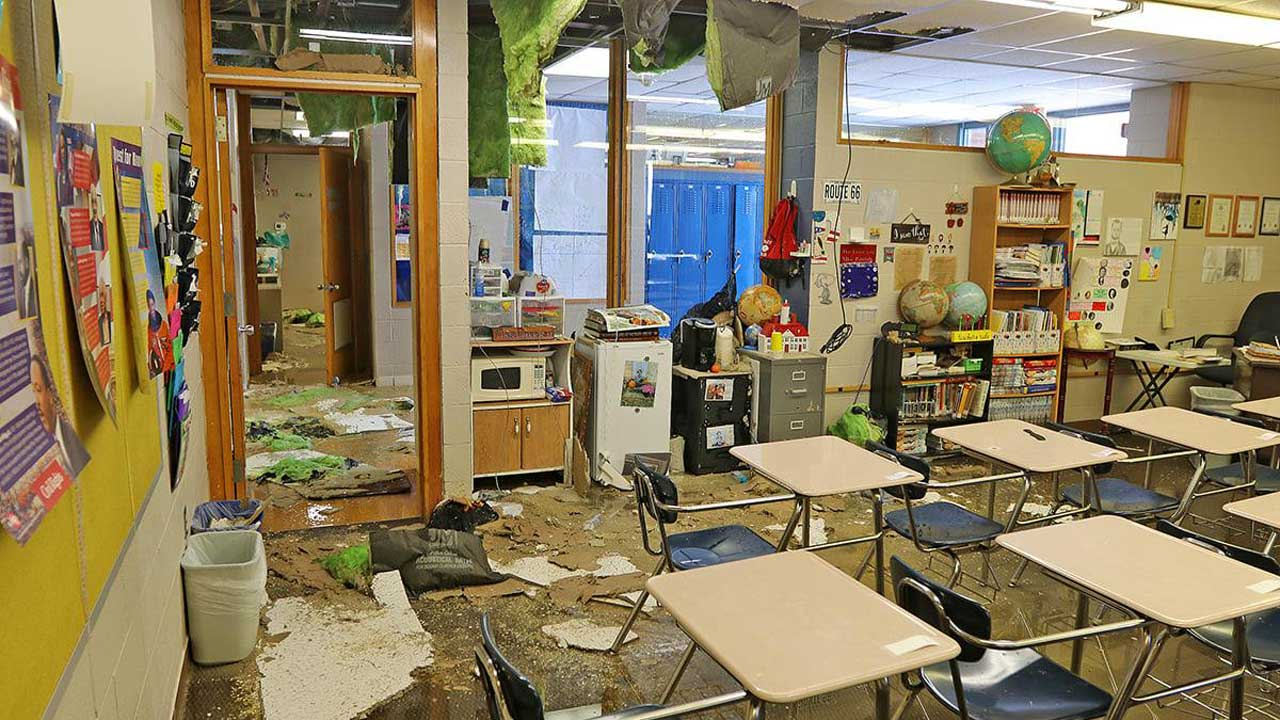 Water Damage Reported At Multiple Hennessey Schools
