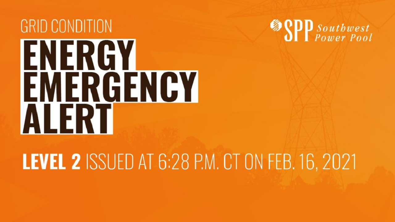 SPP Energy Emergency At Level 2; Blackouts Could Happen During Night