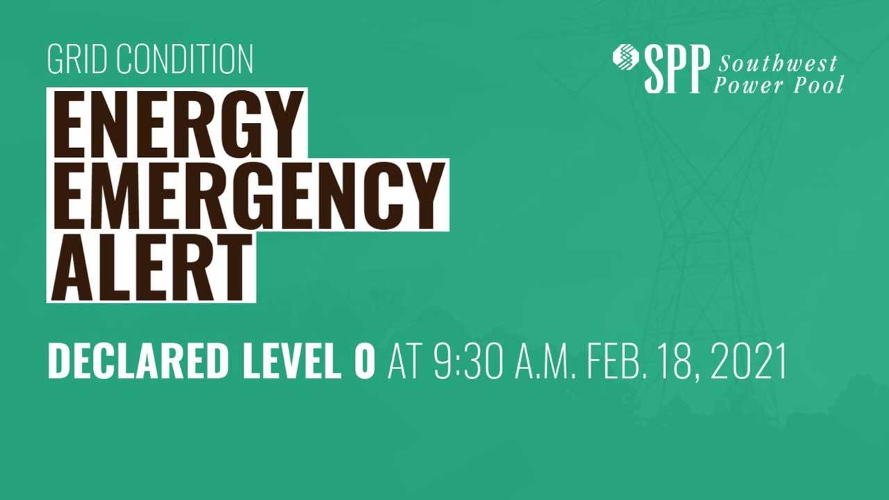 Southwest Power Pool No Longer Under Energy Emergency, Company Announces