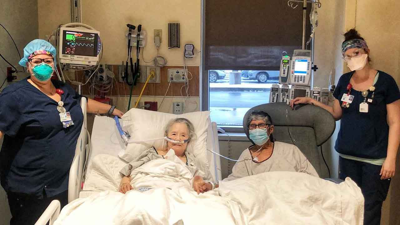 Nurses Create Dinner Date For 'Inseparable' Couple Battling COVID-19 In Separate Hospital Units