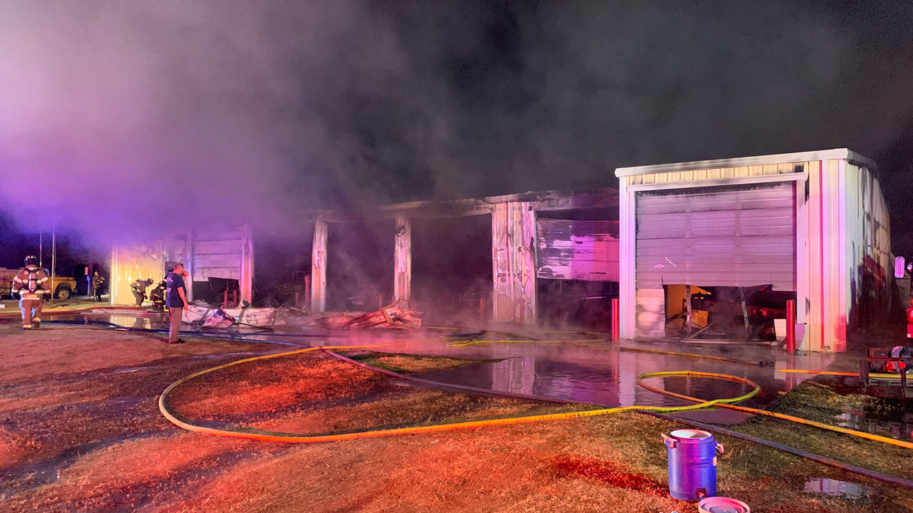 Twin Lakes Volunteer Fire Department Building Destroyed Near Crescent