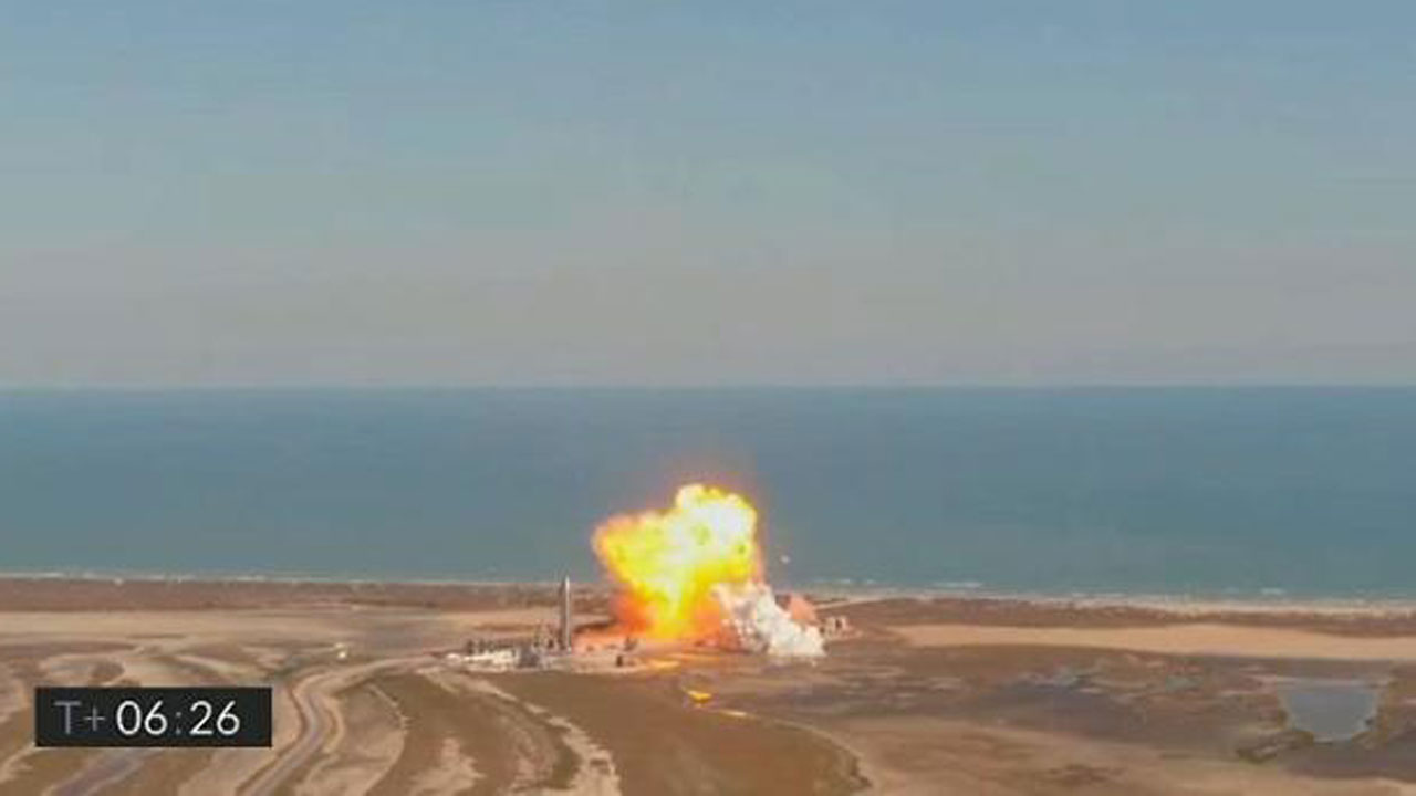 SpaceX Starship Prototype Explodes On Landing In Test Flight Mishap