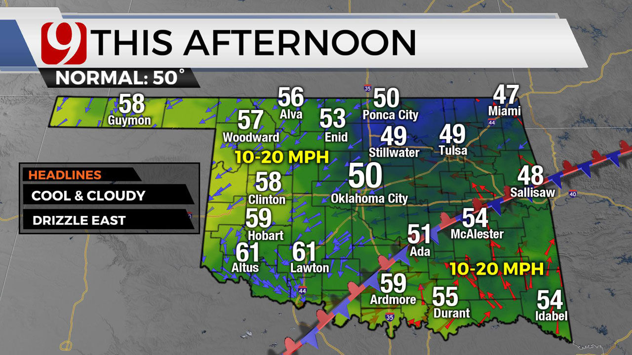 Okla. To See Fog, Drizzle and Cool Temperatures