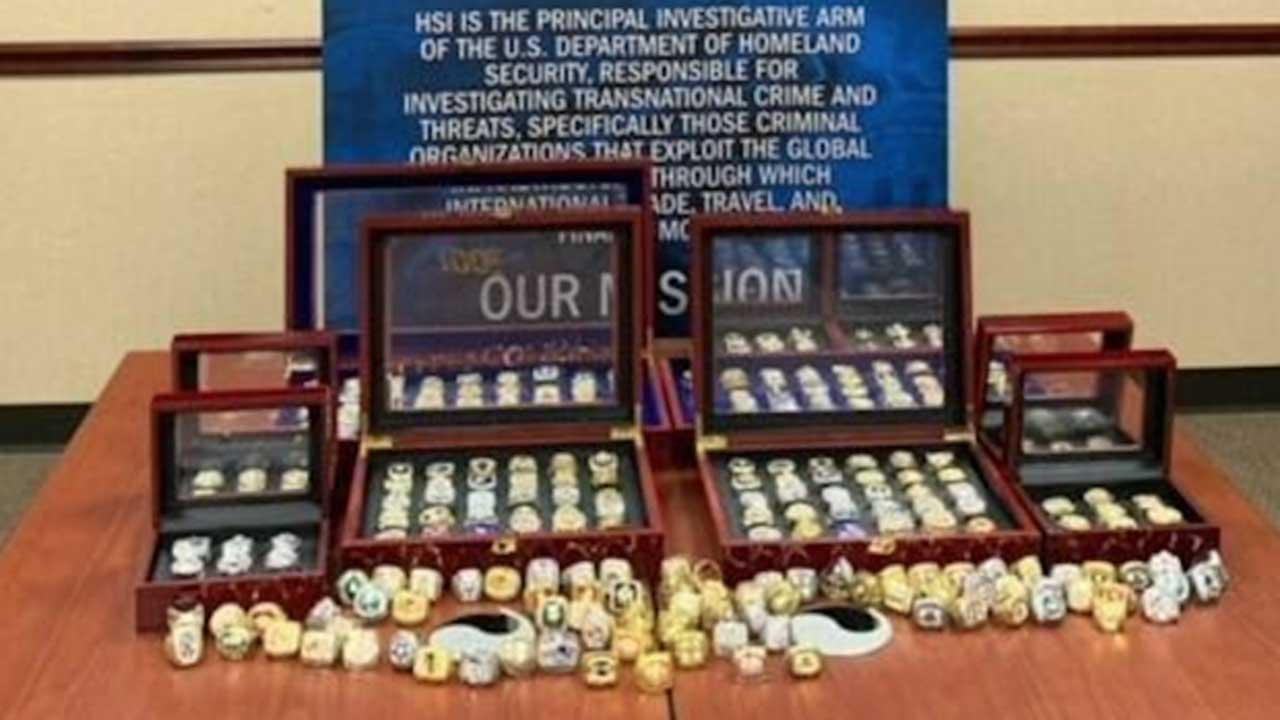 Feds Seize 284 Fake Sports Championship Rings From Florida Memorabilia Store