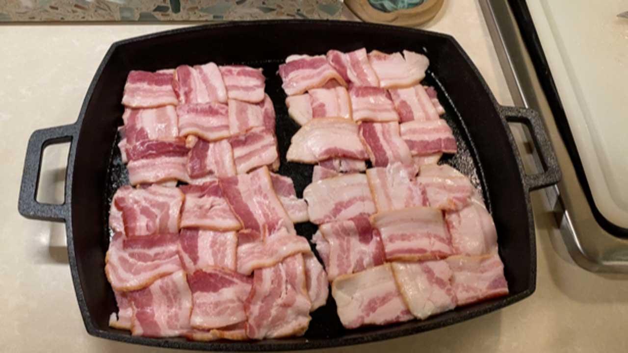 Weaved bacon