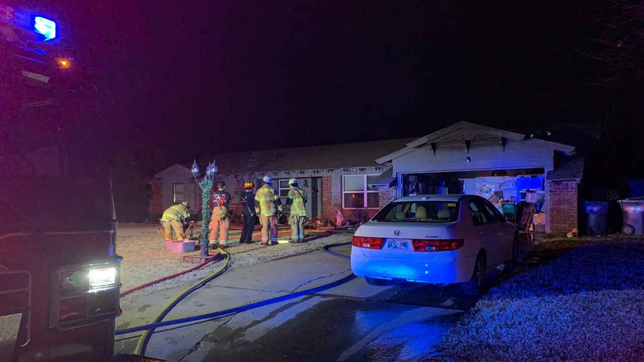 Firefighters Battle House Fire In The Village
