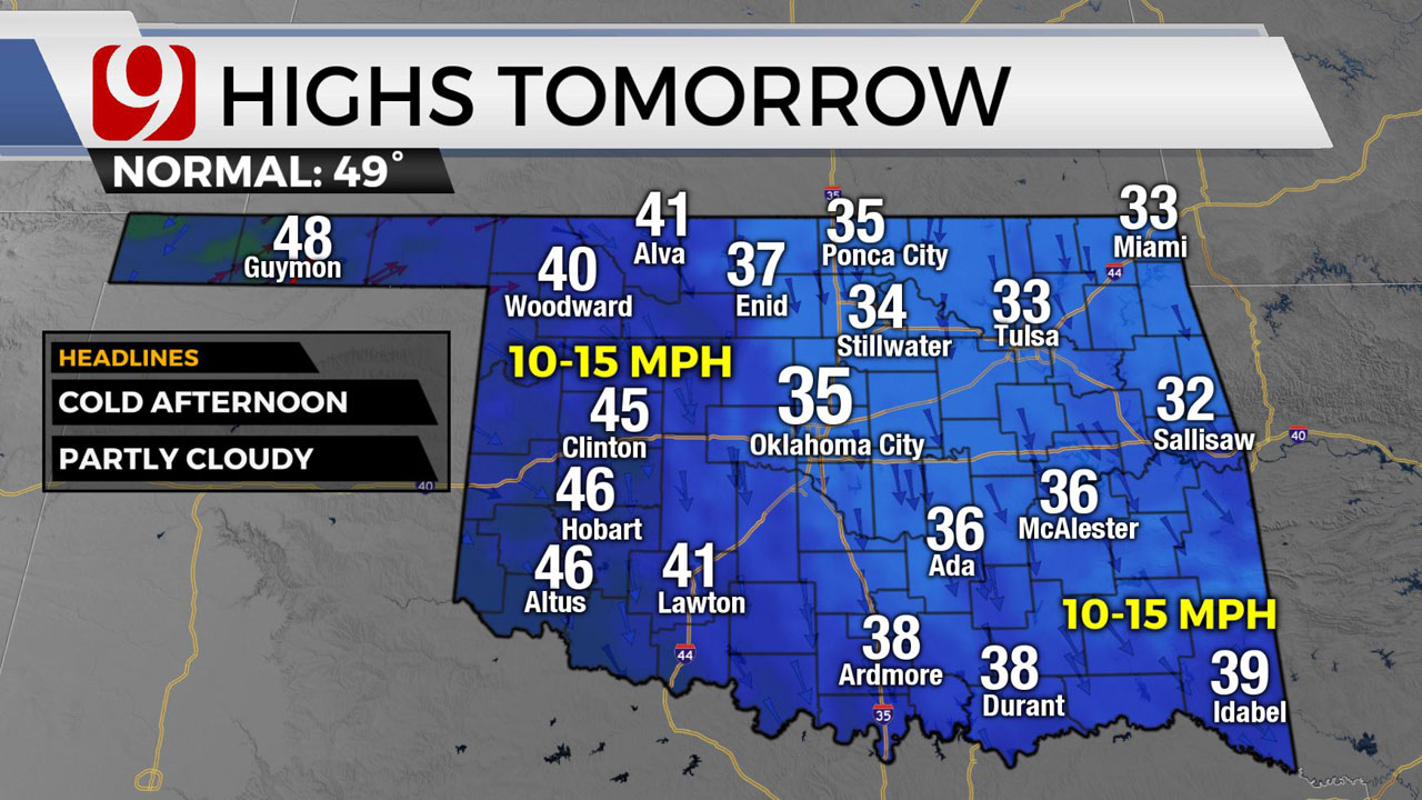 Cool, Breezy Thursday; Chance Of Patchy Flurries Overnight