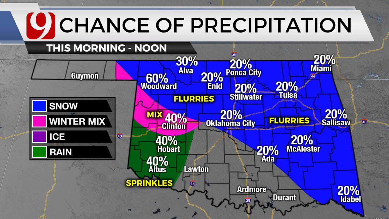 Okla. Sees Cloudy, Cold Friday With Chance Of Flurries