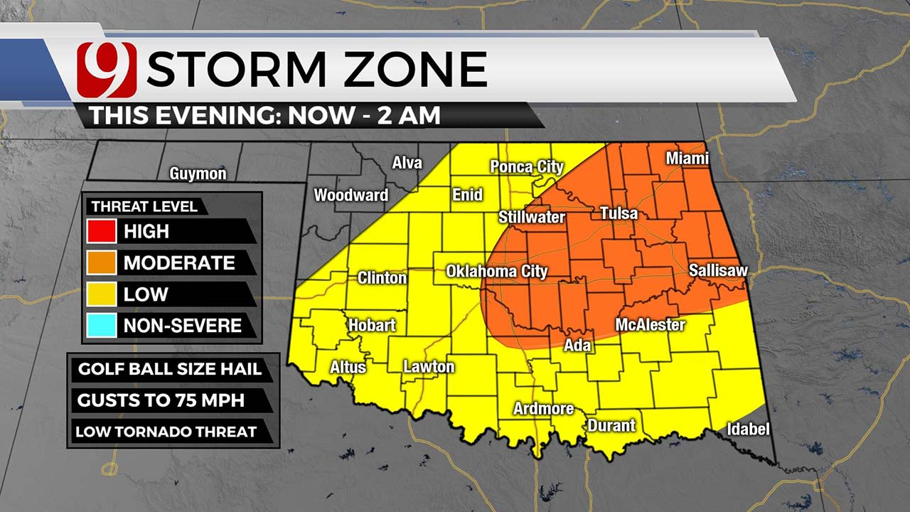 Severe Thunderstorm Watch Issued For Southern Oklahoma