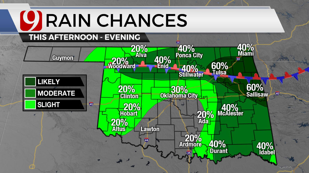 Pockets Of OKC Metro To See Rain, Storms Throughout Weekend