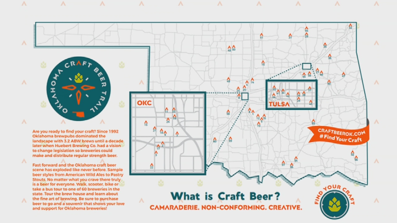 Over 60 Local Breweries Set To Take Part In Oklahoma Craft Beer Trail