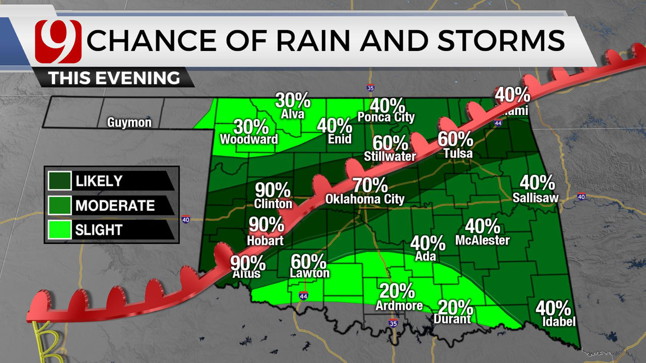 Okla. Sees Chance Of Severe Storms Friday Bringing Threat Of Hail, Damaging Winds