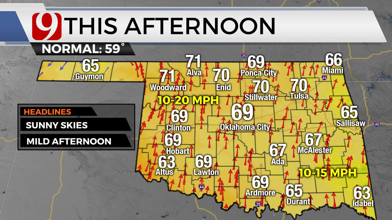 Oklahoma Sees Beautiful Wednesday With Clear Skies, Highs In Upper 60s