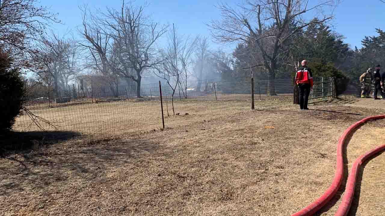 Oklahoma City Fire Officials Investigate Mobile Home Fire