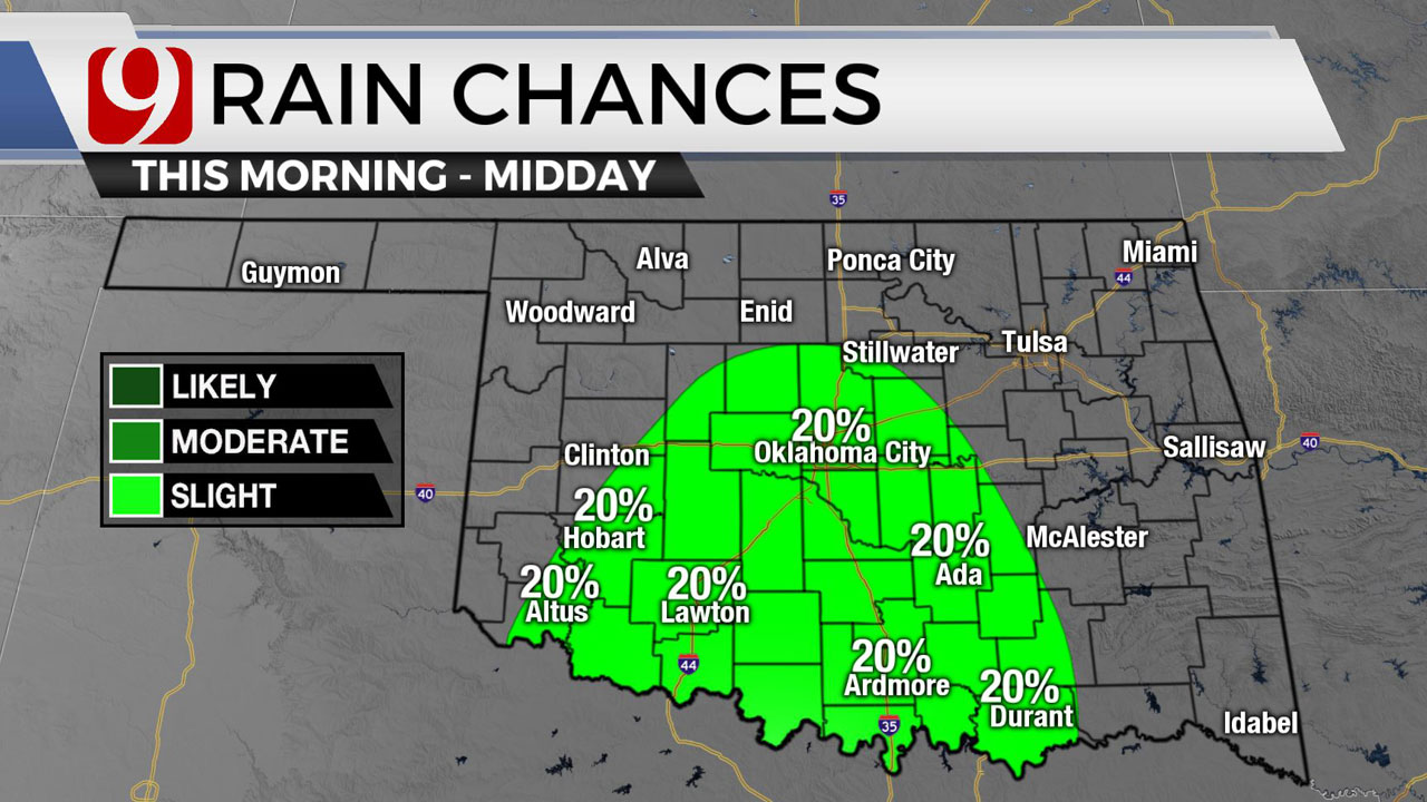 Storms, Humid Conditions Expected For Central And Western Oklahoma