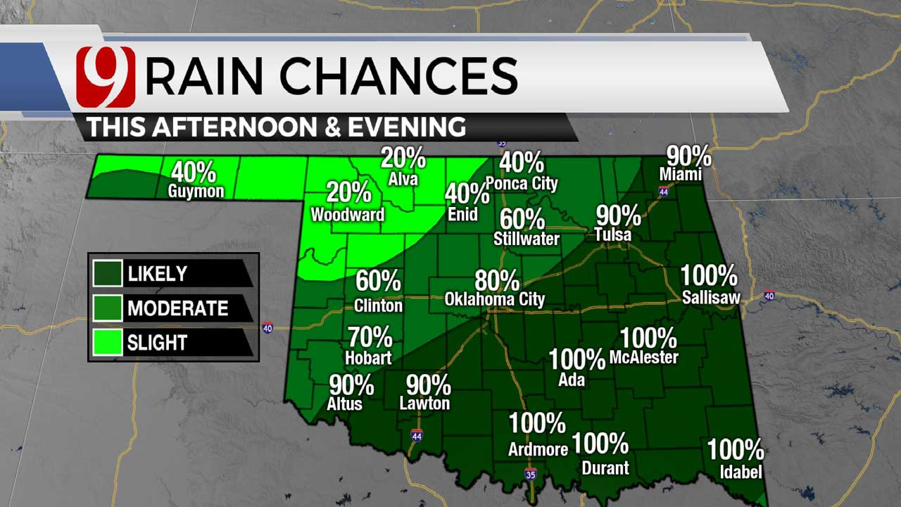 Rain chances in afternoon 5-31-21