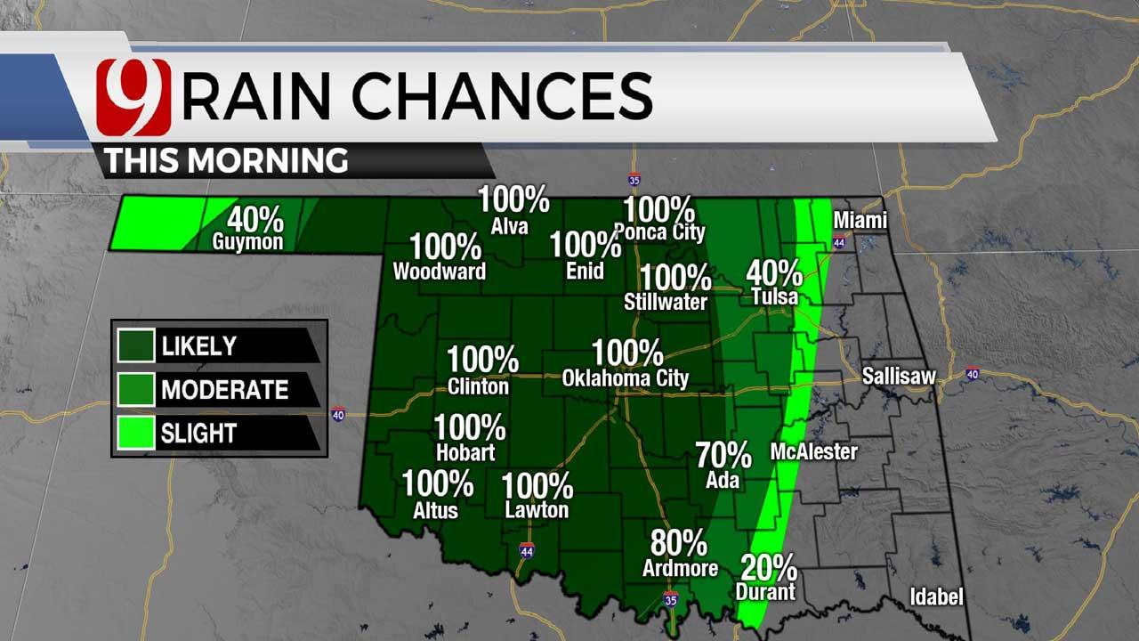 Rain chances in morning 5-31-21